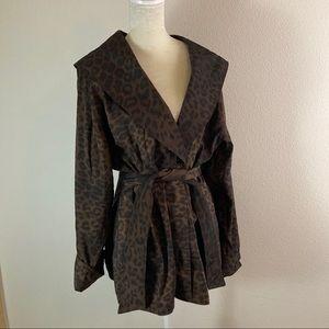 Mycra Pac shawl collar reversible jacket M/L